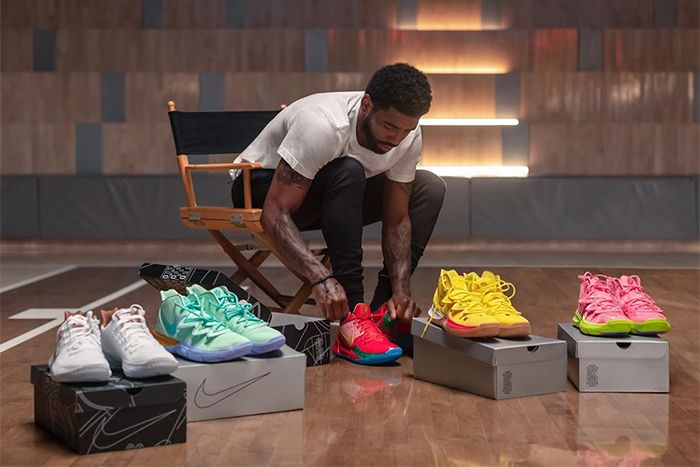 Kyrie Irving Spongebob Squarepants Nike Collaboration Preview First Look August 2019 Release Date Group