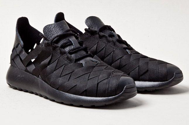 Nike Womens Roshe Run Woven Blk 3 1