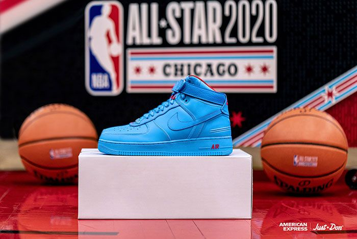 Just Don Nike Air Force 1 High All Star American Express Box
