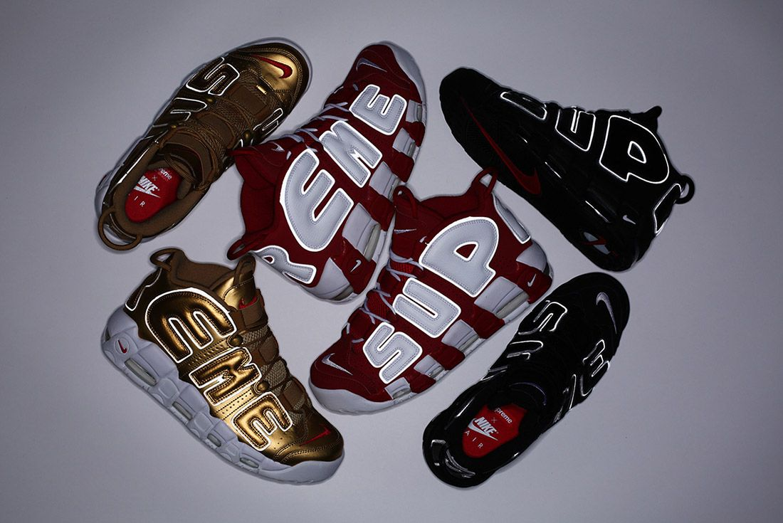 Supreme Nike Air More Uptempo Pack 3