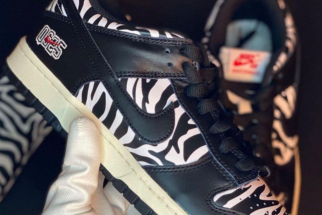In-Hand: Quartersnacks x Nike SB Dunk Low 'Zebra'