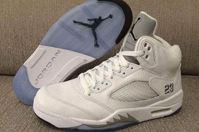 Air Jordan 5 White Metallic 4