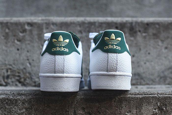 Adidas Superstar White Green Mesh 4