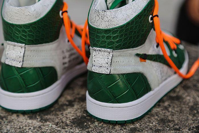 Ceeze Air Jordan 1 Custom Pine Green Off White Hero Shot1