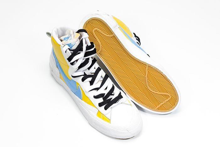 Sacai Nike Blazer Whitebaby Blueyellow Top Shot 2
