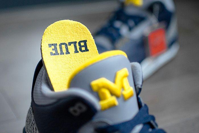 Air Jordan 3 College Pe Michigan 3 Sneaker Freaker
