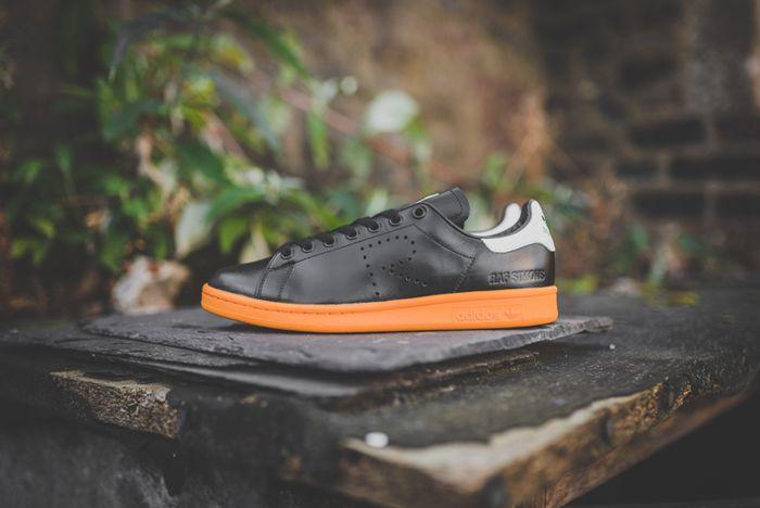 Raf Simons X Adidas Stan Smith Black Bright Orange 5