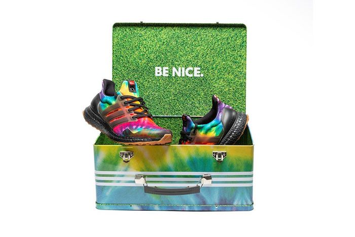 Nice Kicks Adidas Ultra Boost Woodstock Tie Dye Fu9164 Box Front Shot