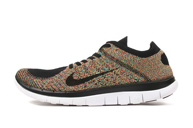 Free 4 0 Flyknit Multicolour Sideview