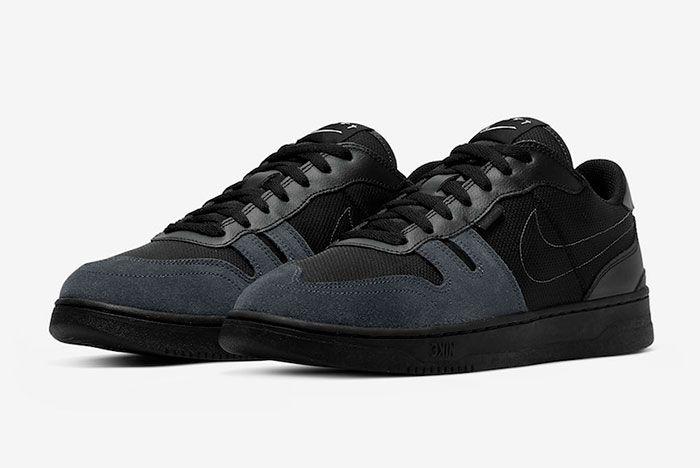 Nike Squash Type Black Anthracite Cj1640 001 Front Angle