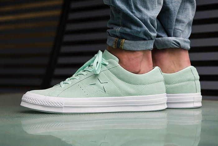Converse One Star Suede Mint Green 1