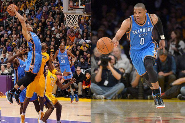 Russell Westbrook On Court Air Jordan 3 Running And Dunking 1