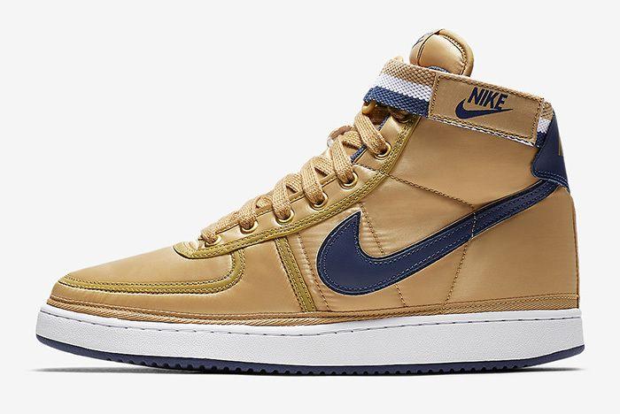 Nike Vandal High Supreme Metallic Gold Navy 2