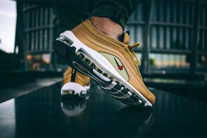 Nike Air Max 97 Metallic Gold On Feet 3