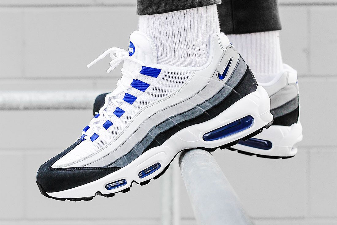 Nike Air Max 95 Grey Blue Left