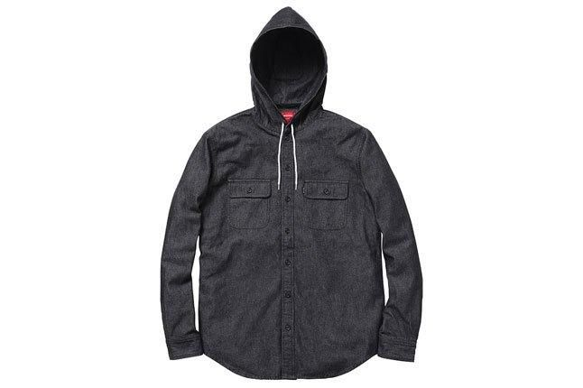 Supreme Hooded Denim Shirt 1