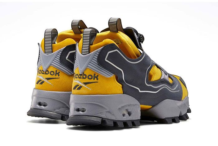 Reebok Instapump Fury Trail Shroud Yellow Rear Angle