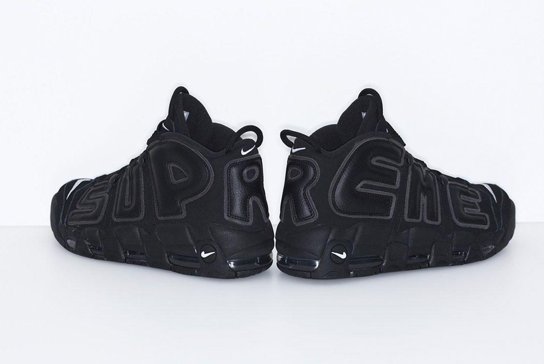 Supreme Nike Air More Uptempo Black 1