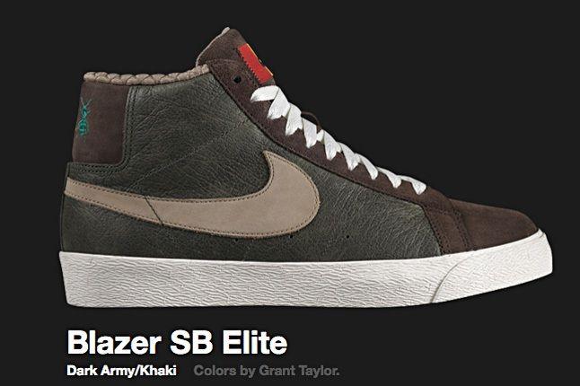 Nike Dark Army Blazer Sb Elite 2009 1