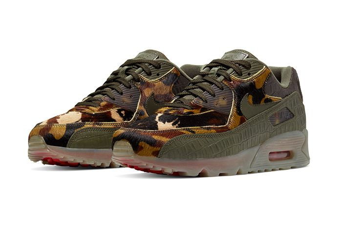 Nike Air Max 90 Cargo Khaki University Red Cu0675 300 Release Date Pair