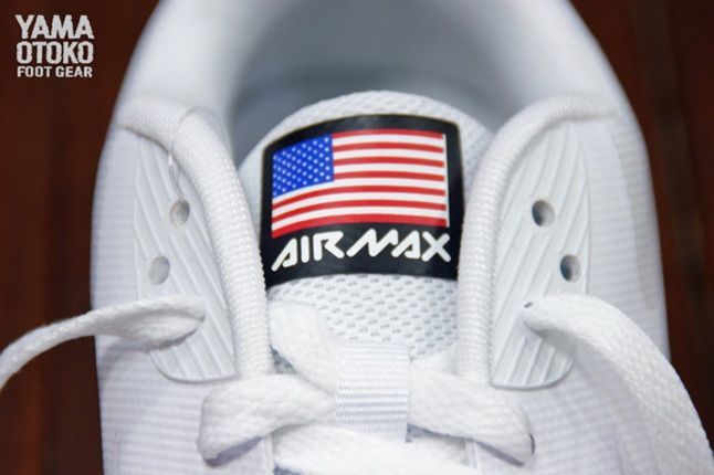 Nike Am90 Hyp 4Thjuly White Tongue Detail 1