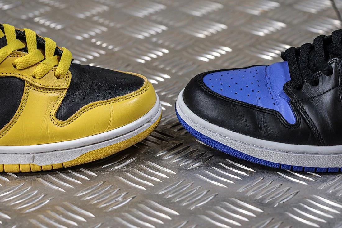 Air Jordan 1 Nike Dunk Toe Box