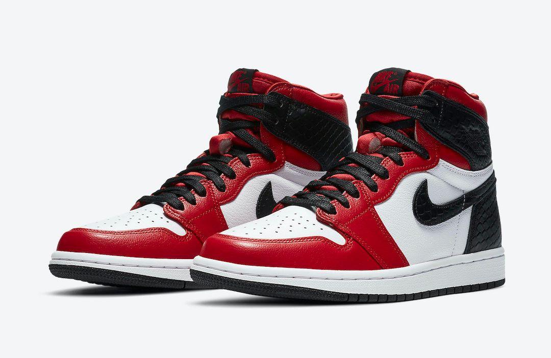 Air Jordan 1 Satin Snakeskin Angled