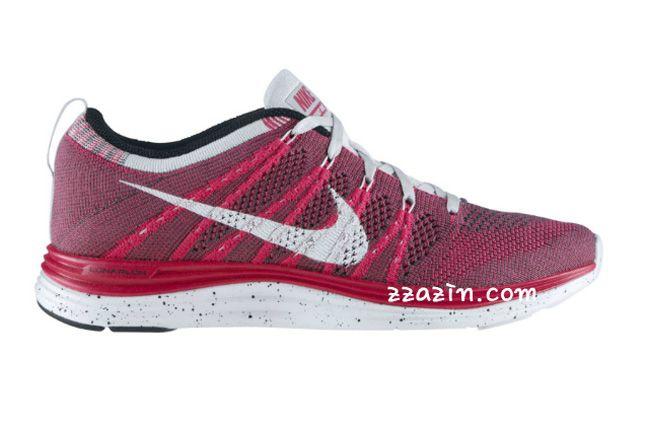 Nike Wmns Flyknit Lunar1 Red Grey 1