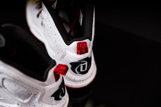 Adidas D Rose 5 Boost White Red 3