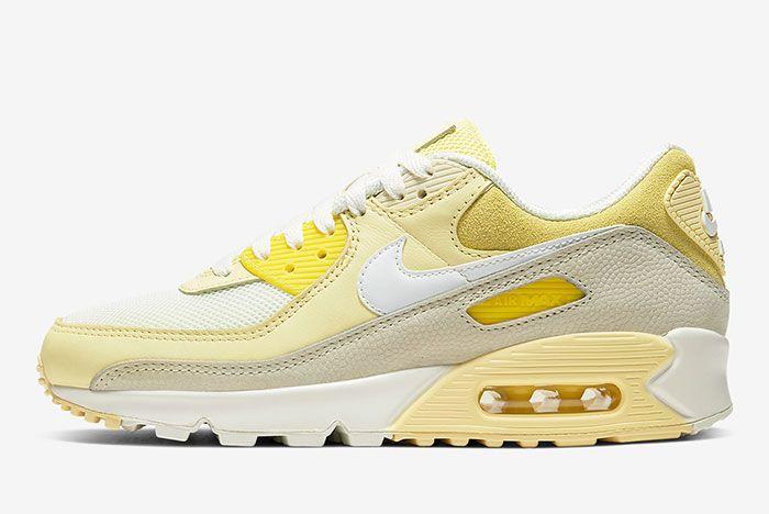 Nike Air Max 90 Lemon Cw2654 700 Medial Side Shot