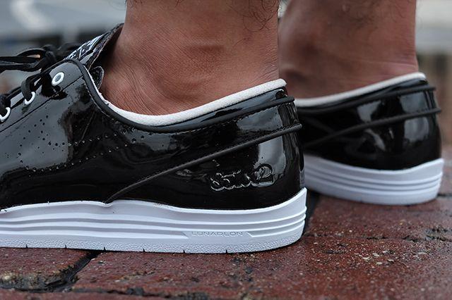 85 Ive2 X Nike Sb Linar Stefan Janoski Black White 2