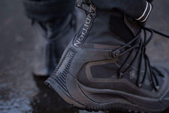 Nike Acg Air Terra Antarktik Gore Tex Bv6348 001 On Foot Heel Lifted