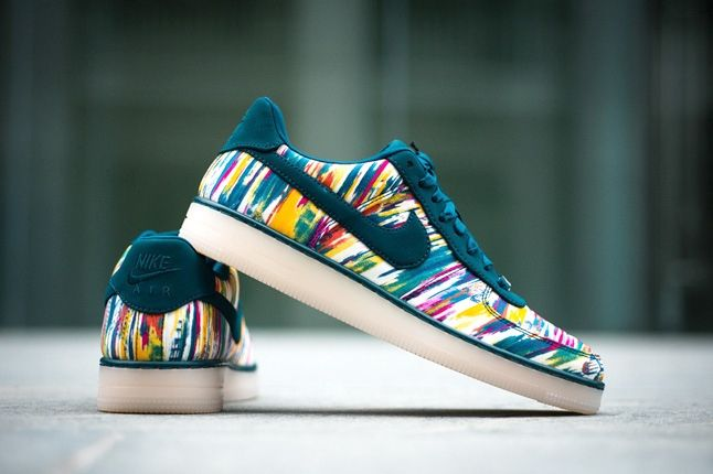 Liberty London Nike Air Force One Downtown Midnight Turquoise 3
