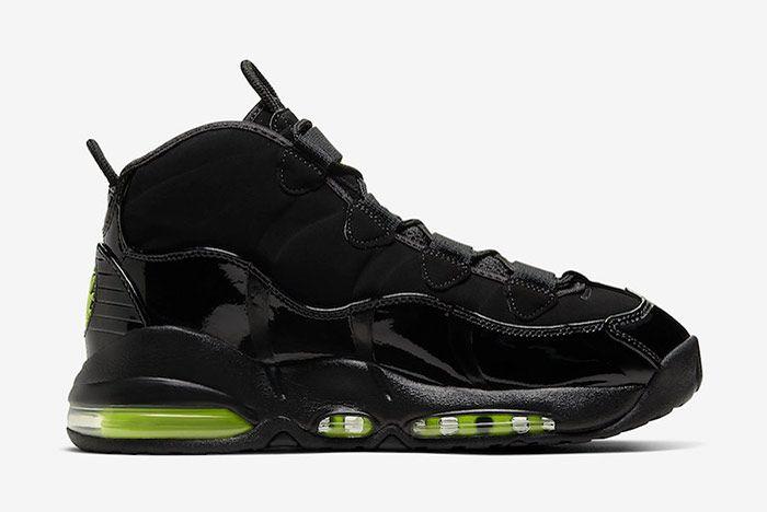 Nike Air Max Uptempo Black Volt Right