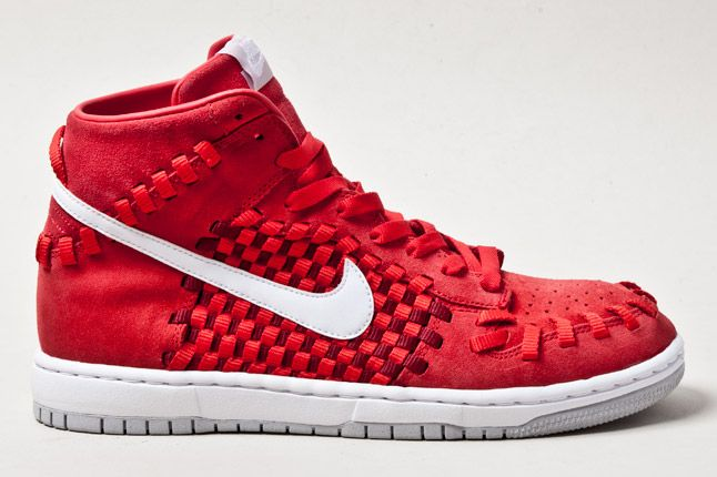Nike Dunk Woven Checkerboard Red 1 1