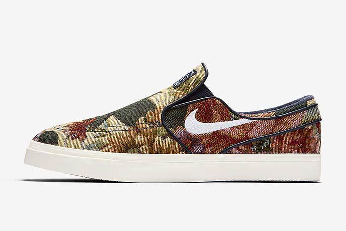 Nike Sb Janoski Slip On Floral 1
