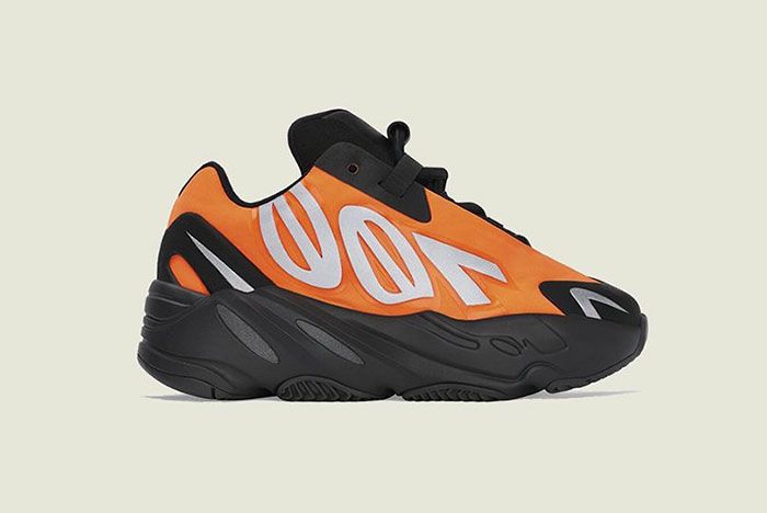 Adidas Yeezy Boost 700 Mnvn Orange Toddler Lateral Side Shot