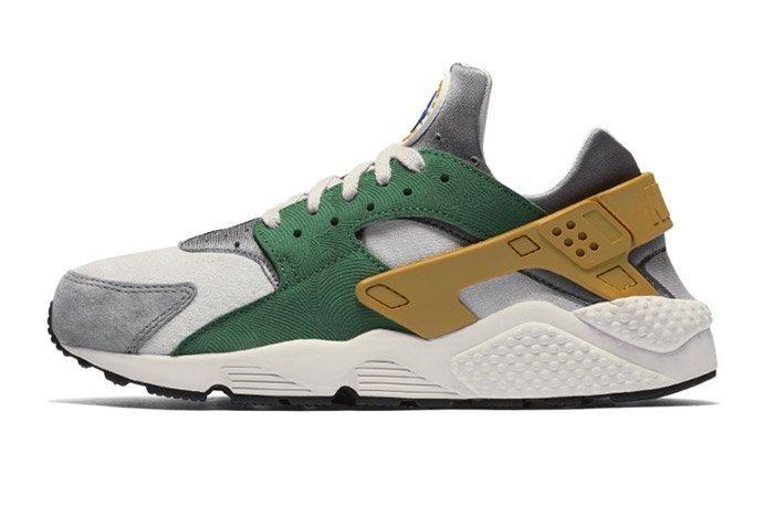 Nike Air Huarache Pine Green Gold Leaf 3
