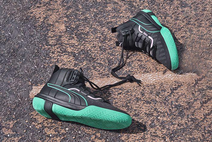 Puma Legacy Black Green Side