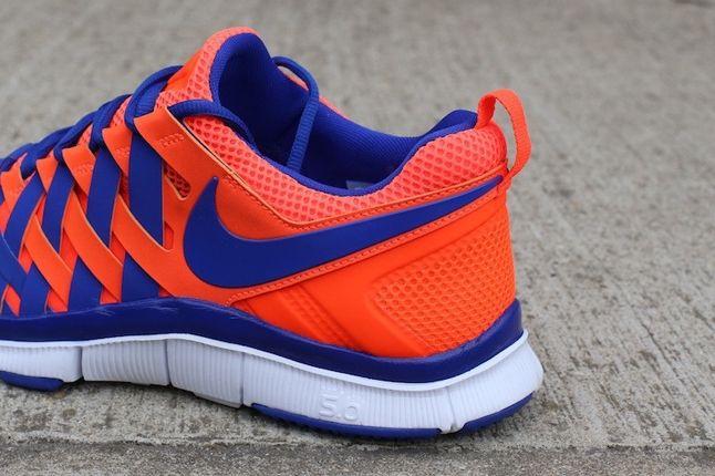 Nike Free Trainer 5 0 Crimson Hyperblue Heel Detail 1