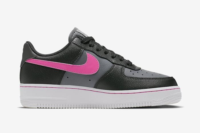 Nike Air Force 1 Black Grey Pink Medial