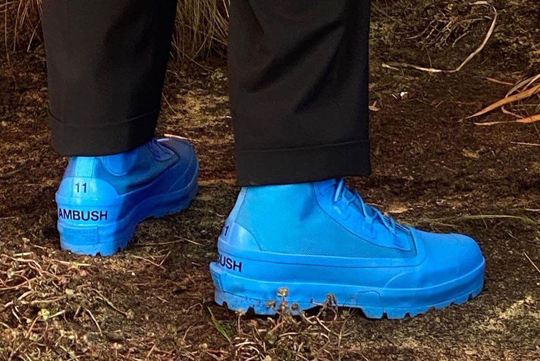 Ambus Converse Duck Boot Blue Heel Shot