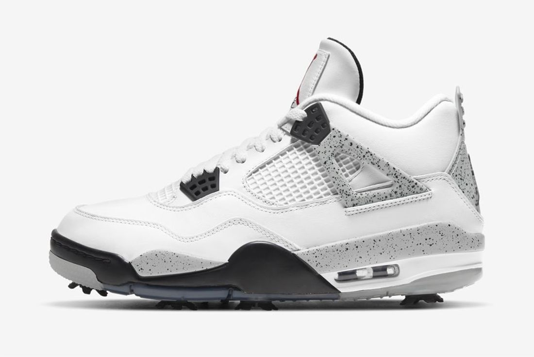 air jordan 4 golf white cement on white