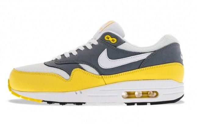 Nike Air Max 1 Essential Cool Grey Yellow 1
