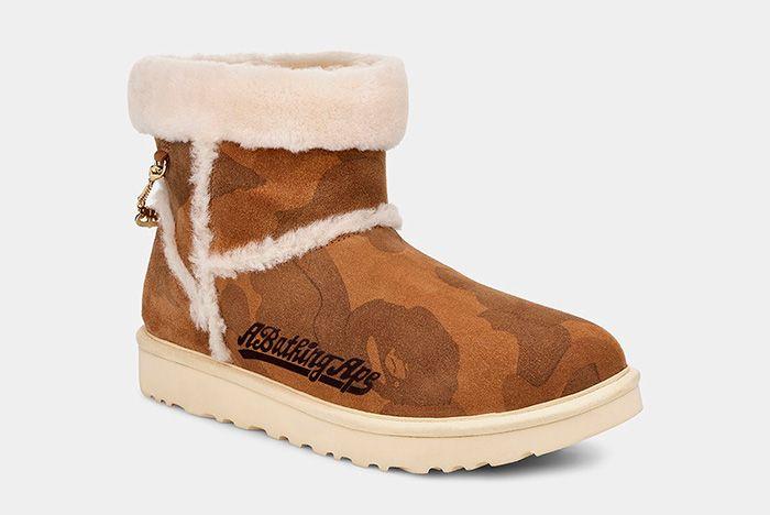 Bape Ugg Boot Front Angle