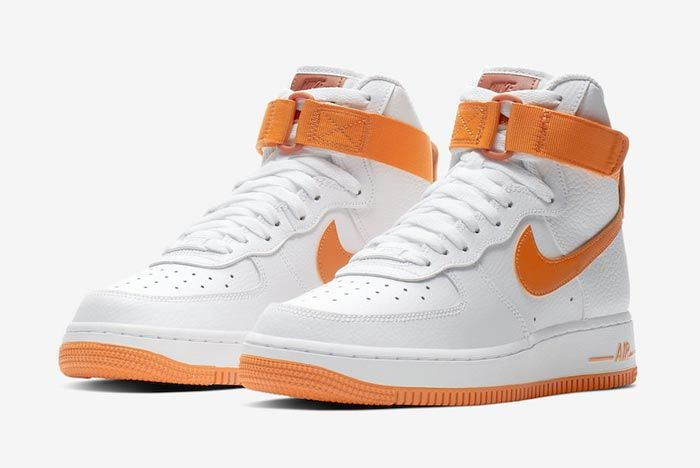 Nike Air Force 1 High White Orange Pair