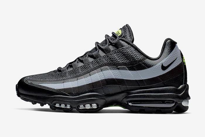 Nike Air Max 95 Ultra Black Grey Volt Left