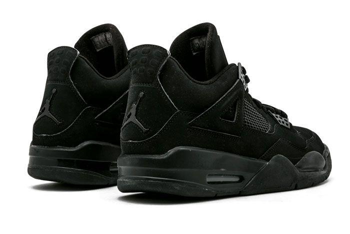 Air Jordan 4 Black Cat Heel