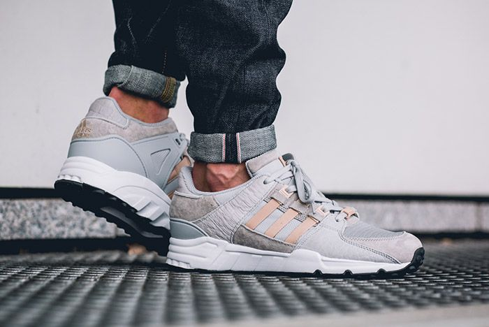 Adidas Equipment Support 93 Eqt Clear Onyx Grey On Foot