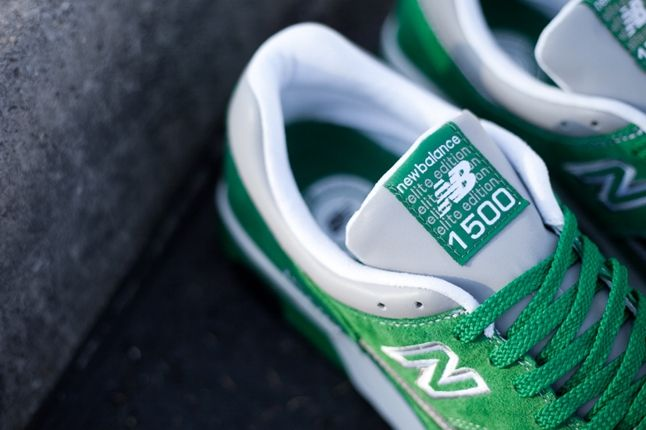 New Balance 1500 Elite Green Tongue Detail 1